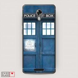 Cиликоновый чехол Police Box Синий на BQ 5201 Space