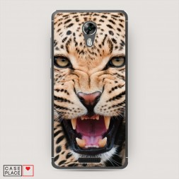 Cиликоновый чехол Леопард 3d на BQ 5201 Space
