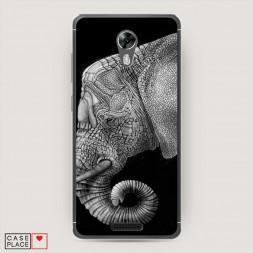 Cиликоновый чехол Костяной слон на BQ 5201 Space
