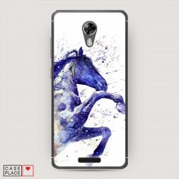 Cиликоновый чехол Лошадь брызки краски на BQ 5201 Space