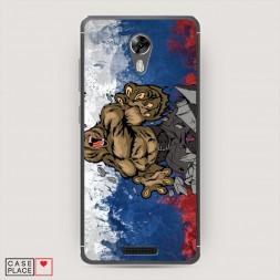 Cиликоновый чехол Медведь в ярости на BQ 5201 Space