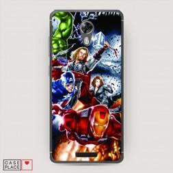 Cиликоновый чехол Avengers на BQ 5201 Space