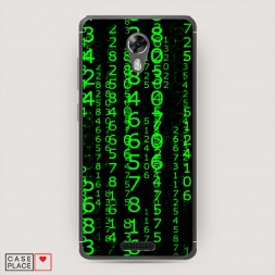 Cиликоновый чехол Цифры матрицы на BQ 5201 Space