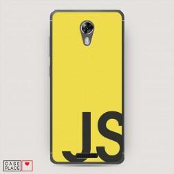 Cиликоновый чехол JS желтый фон на BQ 5201 Space