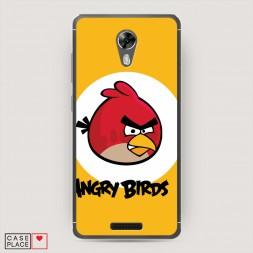 Cиликоновый чехол Красная птичка на BQ 5201 Space