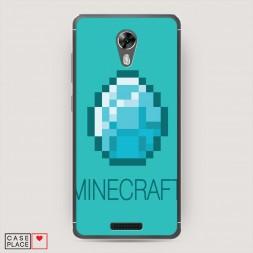 Cиликоновый чехол Minecraft алмаз на BQ 5201 Space