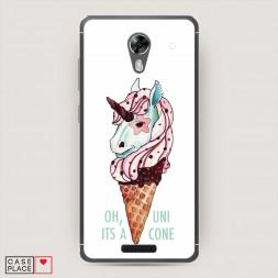Cиликоновый чехол Единорог мороженое на BQ 5201 Space