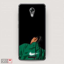 Cиликоновый чехол Nike косички на BQ 5201 Space
