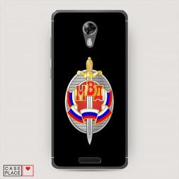 Cиликоновый чехол МВД лого черный на BQ 5201 Space