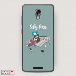 Силиконовый чехол Салли-Фейс на BQ 5201 Space