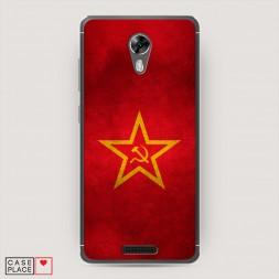 Силиконовый чехол Красное знамя на BQ 5201 Space