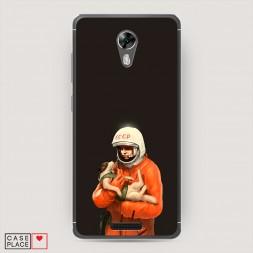 Силиконовый чехол Гагарин и Белка на BQ 5201 Space