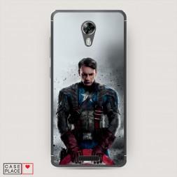 Силиконовый чехол Героический Капитан Америка на BQ 5201 Space