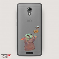 Силиконовый чехол Малыш Йода с печенькой на BQ 5201 Space