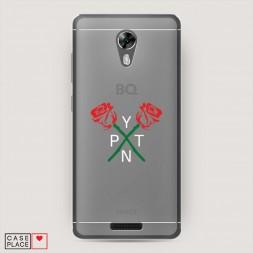 Силиконовый чехол PYTN roses на BQ 5201 Space