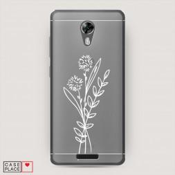 Силиконовый чехол Цветы Одуванчик на BQ 5201 Space