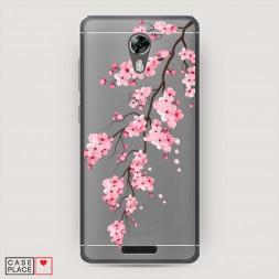 Силиконовый чехол Розовая сакура на BQ 5201 Space