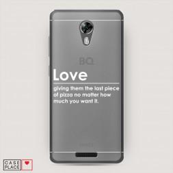 Силиконовый чехол Love на BQ 5201 Space