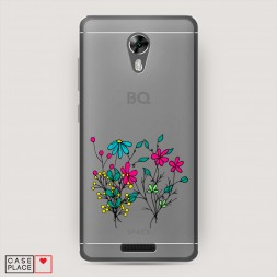 Силиконовый чехол Полевые цветы букет на BQ 5201 Space