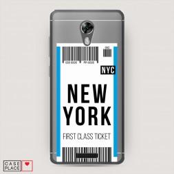 Силиконовый чехол Билет в Нью-Йорк на BQ 5201 Space