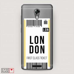 Силиконовый чехол Билет в Лондон на BQ 5201 Space