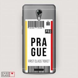 Силиконовый чехол Билет в Прагу на BQ 5201 Space