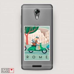 Силиконовый чехол Постер Рим на BQ 5201 Space