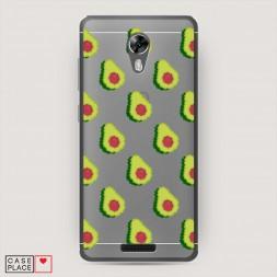 Силиконовый чехол Пиксельарт авокадо на BQ 5201 Space