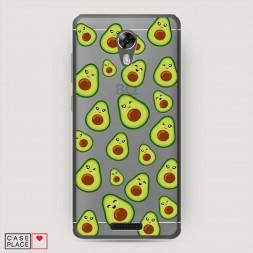 Силиконовый чехол Кавайные авокадо на BQ 5201 Space