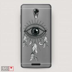 Cиликоновый чехол Всевидящее око-ловец снов на BQ 5201 Space