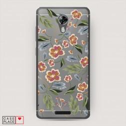 Cиликоновый чехол Художественные цветы на BQ 5201 Space