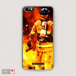 Силиконовый чехол Пожарный в огне на BQ 5058 Strike Power Easy