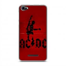 Силиконовый чехол Красный плакат на BQ 5058 Strike Power Easy
