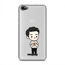Силиконовый чехол Song Joong Ki heart на BQ 5058 Strike Power Easy