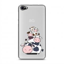 Силиконовый чехол Happy cows на BQ 5058 Strike Power Easy