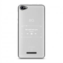 Силиконовый чехол We will rock you music на BQ 5058 Strike Power Easy