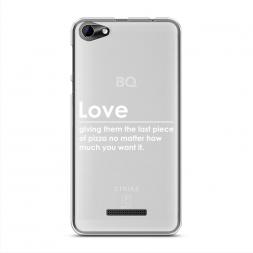 Силиконовый чехол Love на BQ 5058 Strike Power Easy