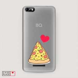 Силиконовый чехол Пицца влюблена на BQ 5058 Strike Power Easy