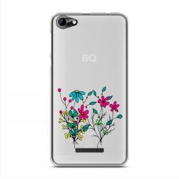 Силиконовый чехол Полевые цветы букет на BQ 5058 Strike Power Easy