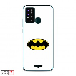 Силиконовый чехол Бэтман белый на BQ 6630L Magic L