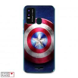 Силиконовый чехол Капитан Америка на BQ 6630L Magic L