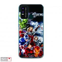 Силиконовый чехол Avengers на BQ 6630L Magic L