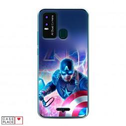 Силиконовый чехол Капитан Америка Мстители на BQ 6630L Magic L