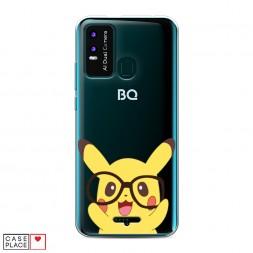 Силиконовый чехол Пикачу в очках на BQ 6630L Magic L