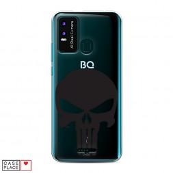 Силиконовый чехол Каратель череп на BQ 6630L Magic L