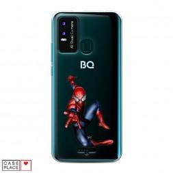 Силиконовый чехол Прыжок Человека-Паука на BQ 6630L Magic L