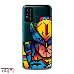 Силиконовый чехол The Wolverine colorful art на BQ 6630L Magic L