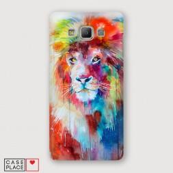 Пластиковый чехол Красочный лев на Samsung Galaxy A7