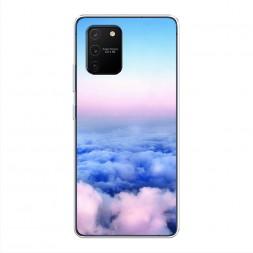 Силиконовый чехол Облака на Samsung Galaxy S10 lite