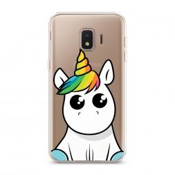 Силиконовый чехол Глазастый единорог на Samsung Galaxy J2 Core (2020)